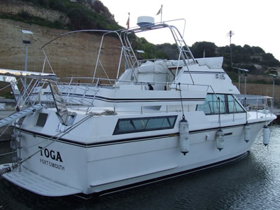The yacht Toga